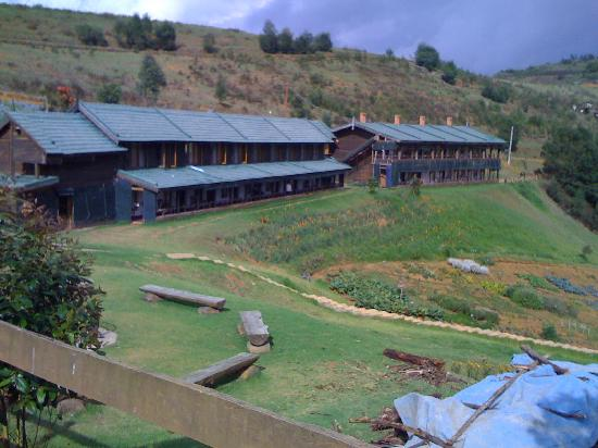Destiny Farmstay: View of the resort from the stables