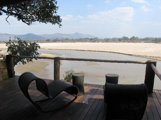 Chamilandu Bushcamp - The Bushcamp Company: The view from our bed