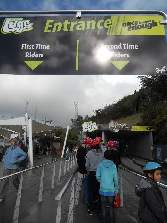 Skyline Rotorua: lanes, first circuit