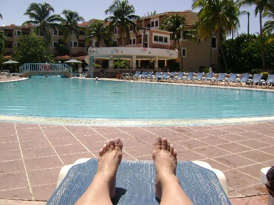 Be Live Experience Las Morlas: Put my feet up & relaxed pool side with a beautiful view of my room.