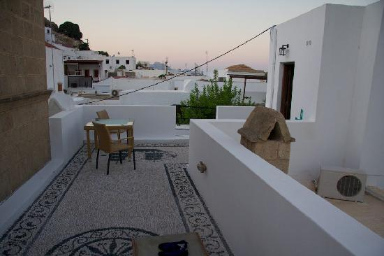 Xenones Lindos: Xenones – our upstairs terrace