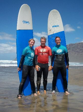 Lava Flow Surf Lanzarote: Myself, Paul and Emma