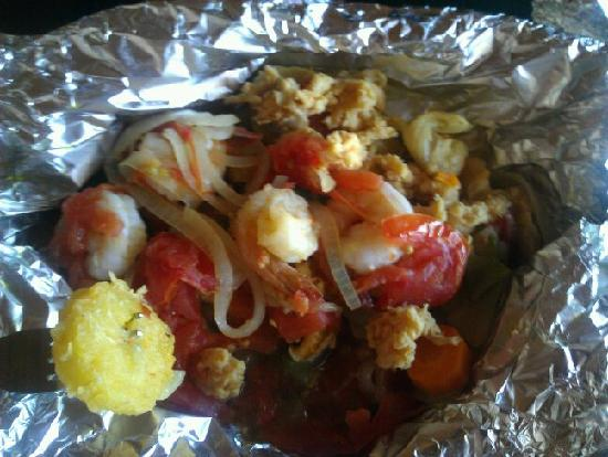 Seafood Haven : Husband's combo of conch, shrimp, whitefish, plantains and all kinds of goodies
