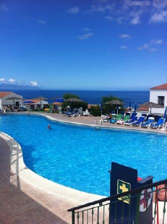 pool at Las Rosas complete with magnificent view