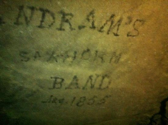 Mammoth Cave National Park: Where someone had wrote on the cave wall with candle smoke back in the 1800s