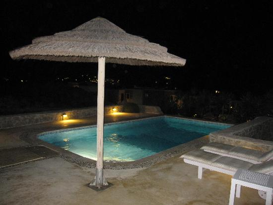 Naxian Collection: Our pool at night