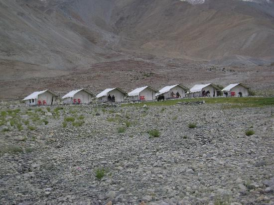 Camp Water Mark: Rows of tents