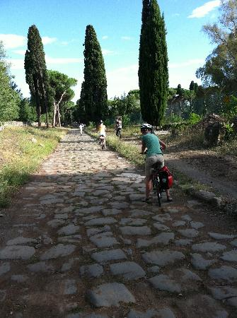 TopBike Rental & Tours: View of Appia Antica bike path