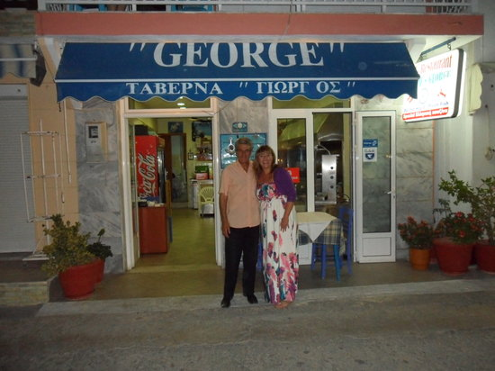 George Taverna : George outside this taverna