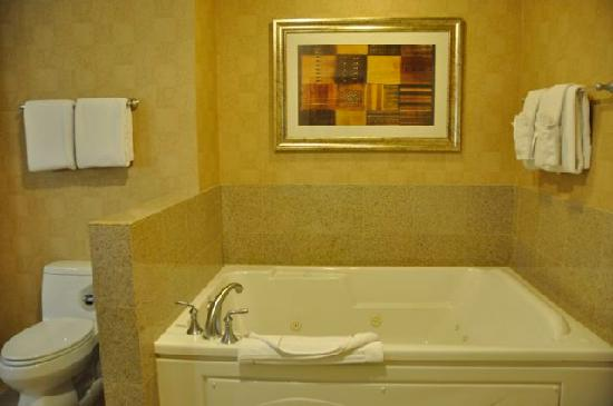 Platinum Hotel And Spa: Huge Jetted Tub But Missing Hardware
