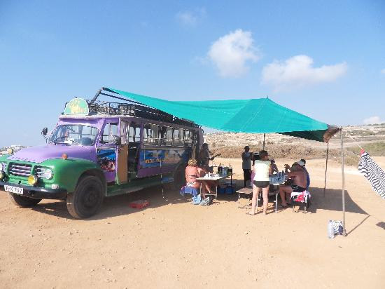 George's Fun Bus: Fun bus transforms into Beach Barbeque Bus! Its multi-purpose!