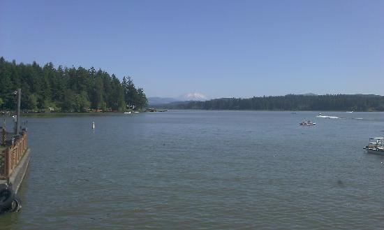 Silver Lake Resort: view of Mt. St. Helen's from motel