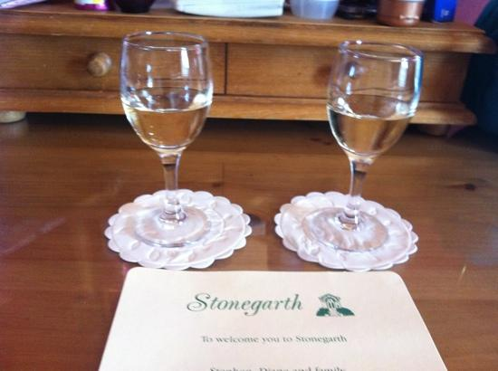 Stonegarth Guest House: sherry
