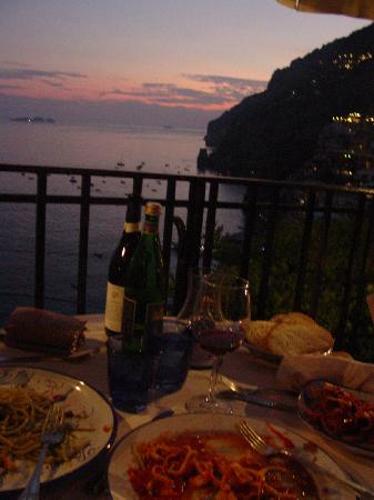 Bruno: View of our dinner and view
