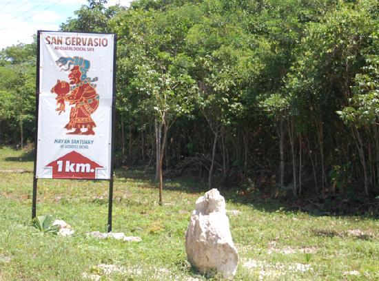 San Gervasio Mayan Archaeological Site: 7 Km para llegar