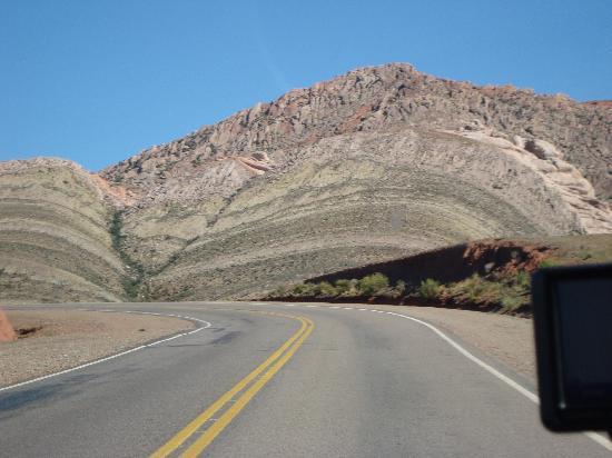 Paseo de los Colorados: en la carretera