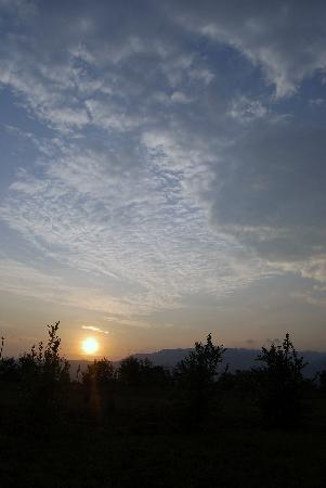 Lovely sunset from Farmland Safari Resort