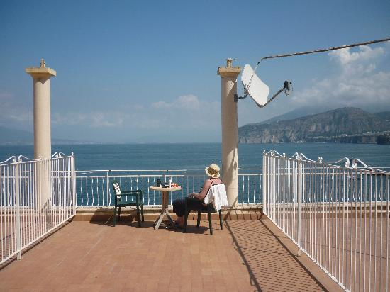 Hotel Admiral Sorrento: We had a huge balcony this year.