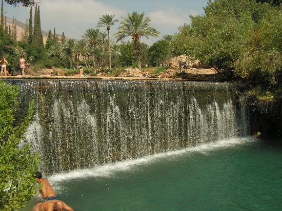 Beit She'an, Israel: the big waterfall