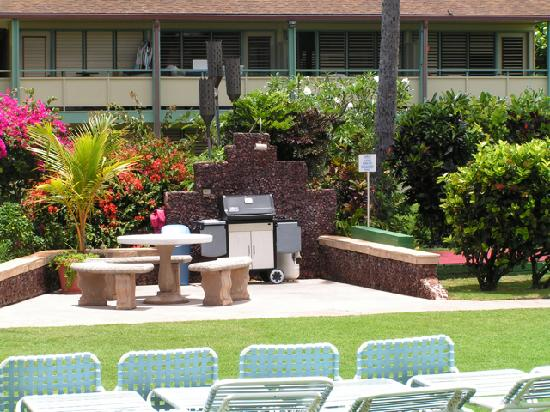 Napili Surf Beach Resort: everyone is very nice in sharing the grill...and the grill is nice and well kept