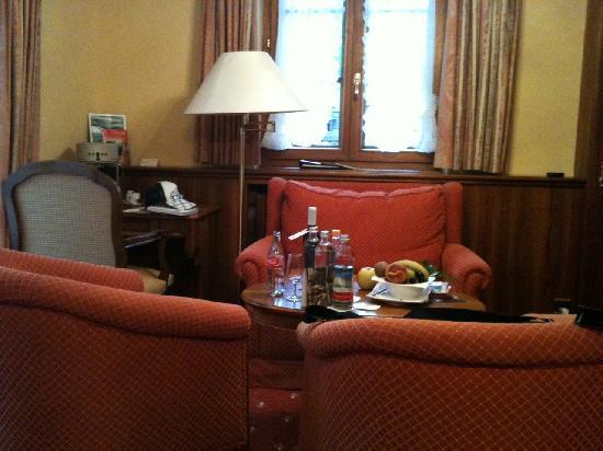 Grand Hotel Zermatterhof: Die gemütliche Sitzecke