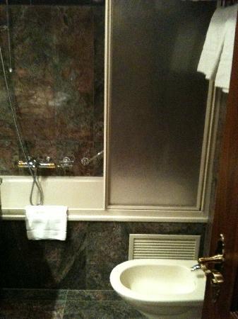 Grand Hotel Zermatterhof: Das Bidet und die Badewanne