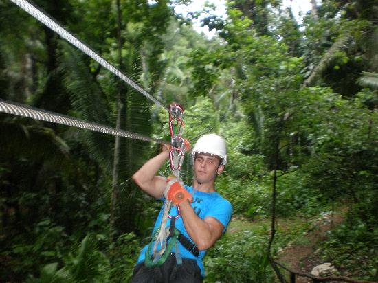 Cave Tubing & Zip Line with Explore Belize Caves: My Son