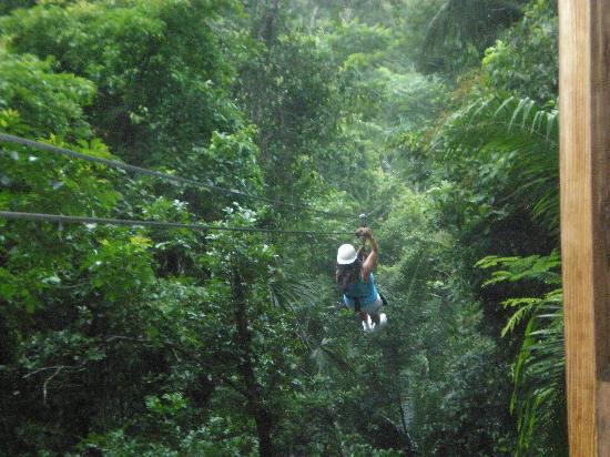 Cave Tubing & Zip Line with Explore Belize Caves: Nice scenary
