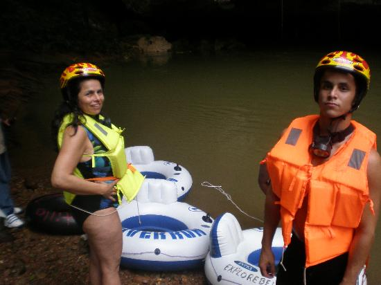 Cave Tubing & Zip Line with Explore Belize Caves: Getting ready