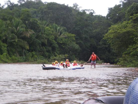 Cave Tubing & Zip Line with Explore Belize Caves: Water was rising from the rains