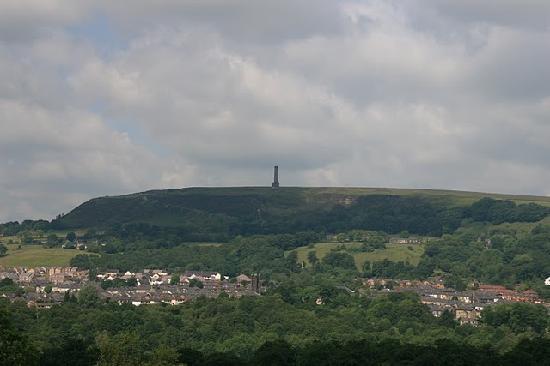 The Lord Raglan: Peel tower from Pub