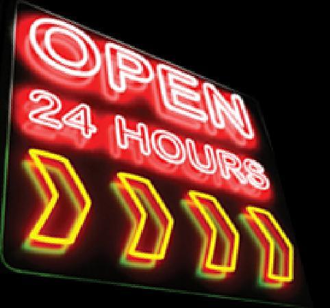 Huey's 24/7 Diner: We're Open 24 Hours!
