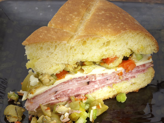Huey's 24/7 Diner: New Orleans Muffaletta
