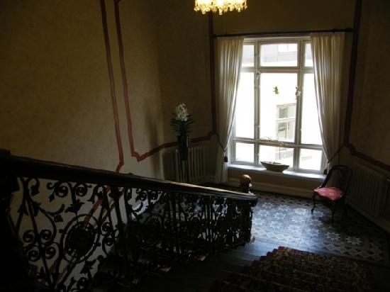 Hotel Royal Gothenburg: the stairs leading to our room...