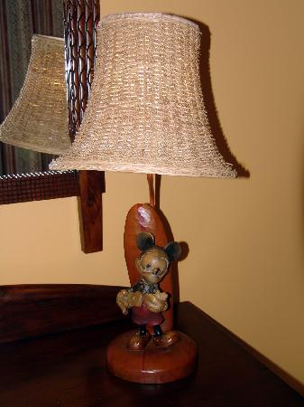 Aulani, a Disney Resort & Spa: Carved Mickey lamp in the room