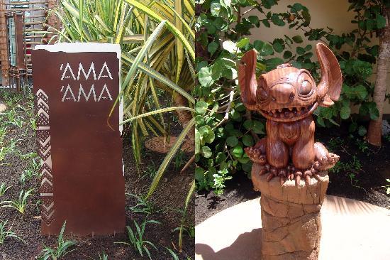 อูลานี อะดิสนี่ย์ รีสอร์ท & สปาอินฮาวาย: 'AMA'AMA sign and statue of Stitch