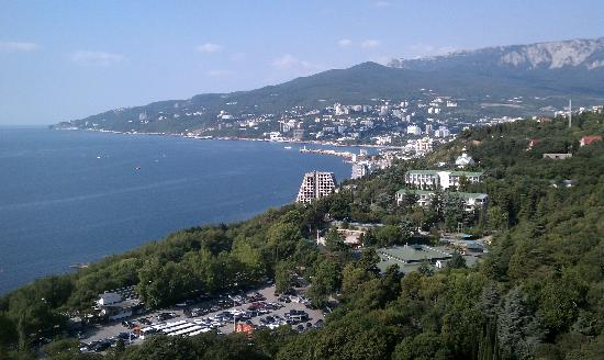 Yalta Intourist Hotel: View from rooftop restaraunt