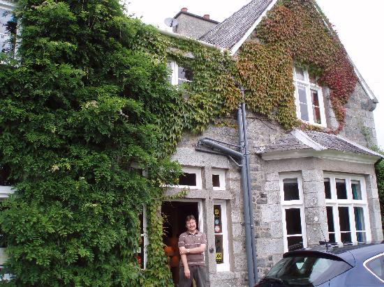 Simon in front of Penmachno Hall