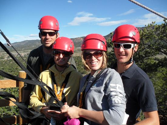 Royal Gorge Zip Line Tours: The 4 of us right before zipping!!