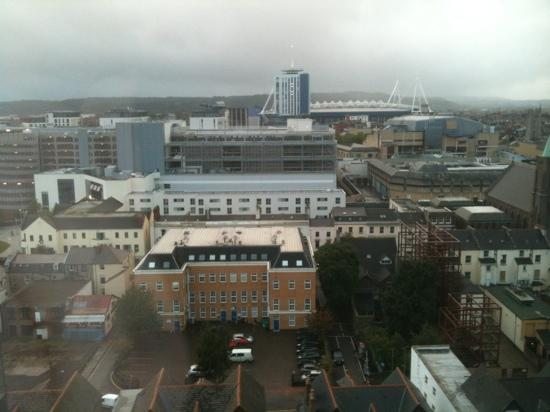 Premier Inn Cardiff City Centre Hotel: 9th floor view from room 902 (front)