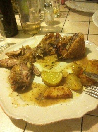 Angelina a Testaccio: ordered lamb and potato- got fat bones and potatoes