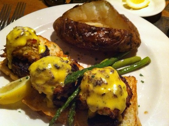City Range Steakhouse Grill: Black and Blue with baked potato