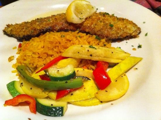 City Range Steakhouse Grill: trout with rice and squash