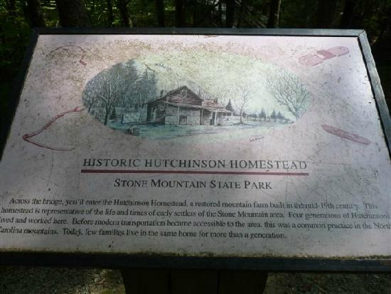 Hutchinson House: PUBLIC sign giving history to view for the PUBLIC to read