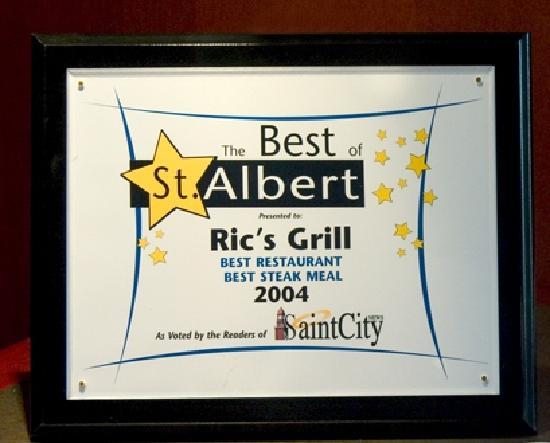 Ric's Grill: Best Restaurant Award