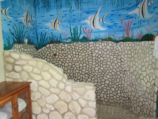Blue Hole Mineral Spring: Guest Room Shower