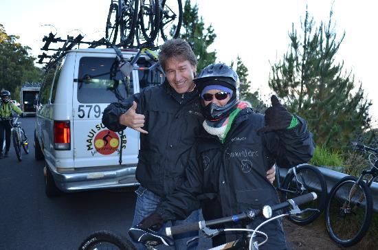 Paia, Hawái: maui sunriders bike ride down haleakala