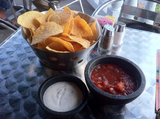 La Fiesta Authentic Mexican Restaurant: Chips and salsa! Good stuff.