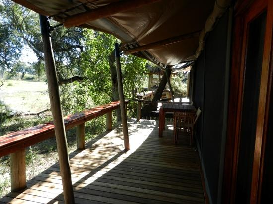 Wilderness Safaris Mombo Camp: Tent deck