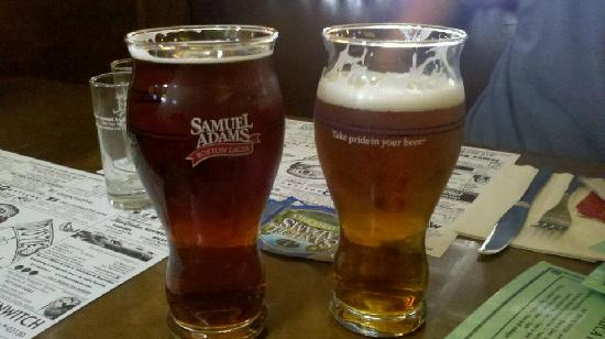 Harpoon Brewery & Beer Hall: Awesome Sam Adams glass at Doyles!